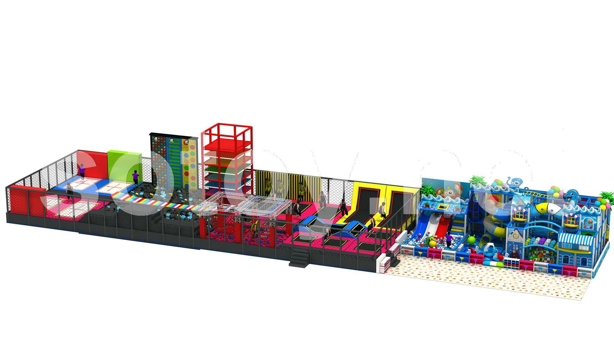 新型淘气堡大型蹦床儿童乐园厂家 定制